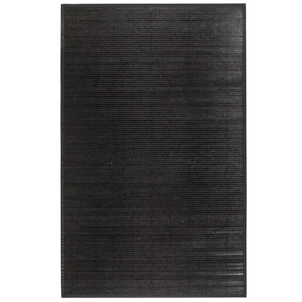 Bamboo Black Area Rug - 5' x 8'