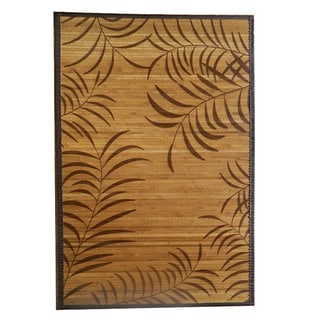 Tropical Leaf Rayon from Bamboo Area Rug (4' x 6')