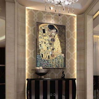 Gustav Klimt 'The Kiss' Wall Tapestry