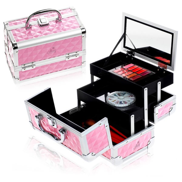 Shop Shany Pink Mini Mania Makeup Train Case With Mirror