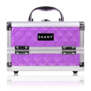 SHANY Purple Mini Makeup Train Case with Mirror