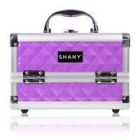 SHANY Purple Mini Makeup Train Case with Mirror