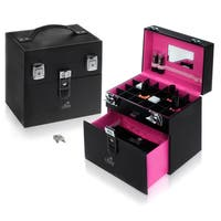 Shany Black/Pink Matters Nail Accessories Organizer Makeup Case