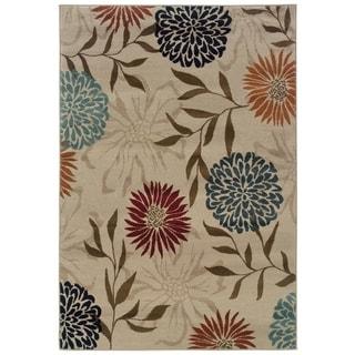 Floral Stone/ Multi Rug (5'3 x 7'6)