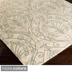 Modern Classics Hand-tufted Contemporary Ivory Floral Rug (8' x 11')