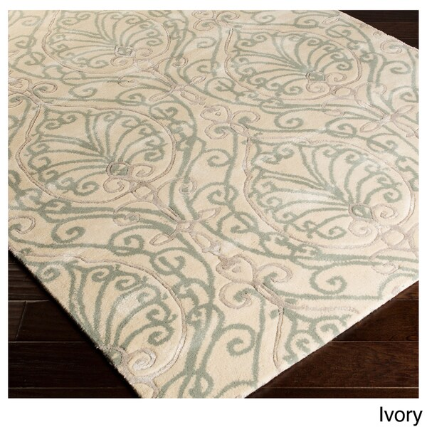 Modern Classics Hand-tufted Contemporary Ivory Floral Area Rug - 8' x 11'