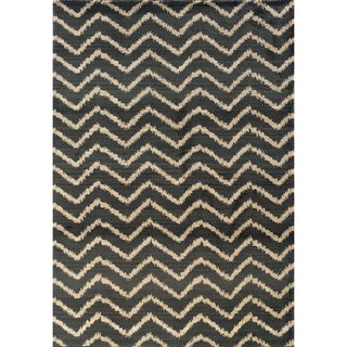 Old World Tribal Grey/ Ivory Area Rug (5'3 x 7'6)