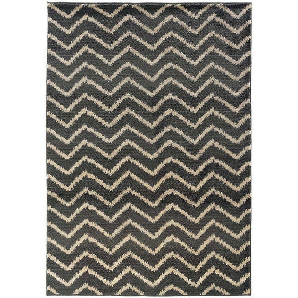 Old World Tribal Grey/ Ivory Area Rug - 5'3 x 7'6
