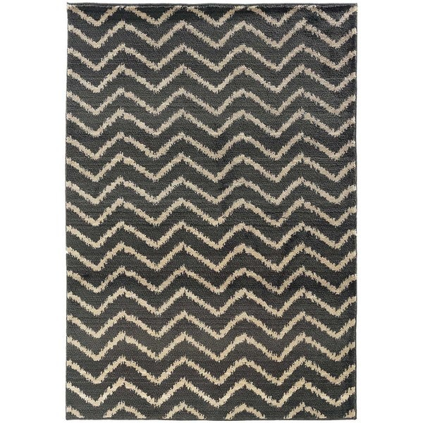 Old World Tribal Grey/ Ivory Area Rug - 6'7 x 9'1