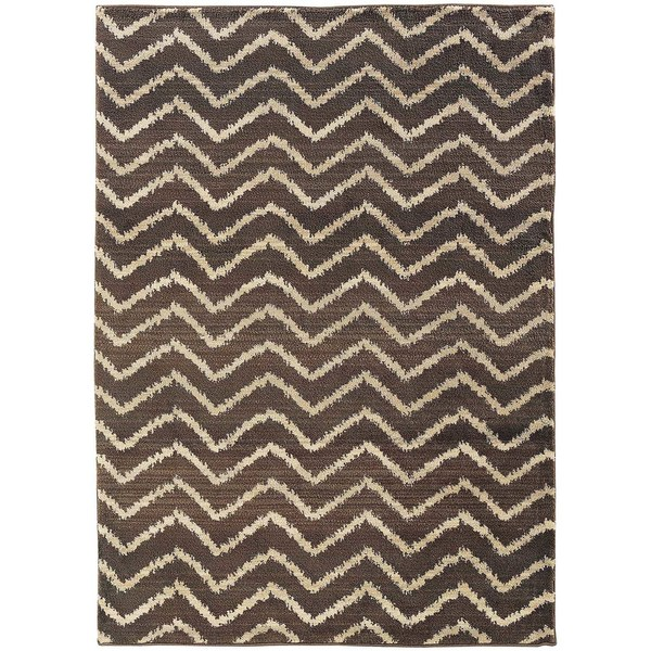 Old World Tribal Brown/ Ivory Area Rug (4' x 5'9)