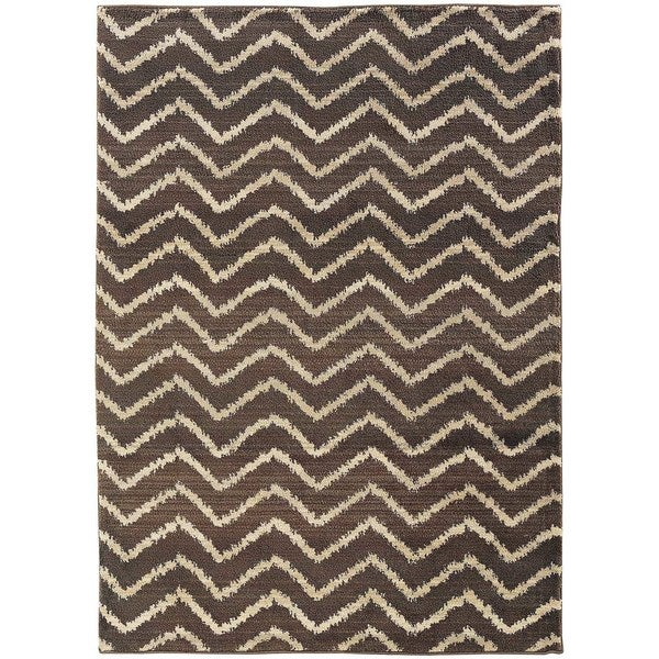 Old World Tribal Brown/ Ivory Area Rug - 7'10 x 10'10
