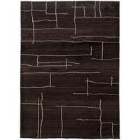 """Old World Tribal Transitional Brown/Ivory Rug (6'7"""" x 9'1"""") - 6'7"""" x 9'1"""""""