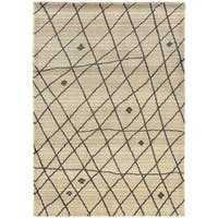 Pine Canopy Nicolet Tribal Ivory/ Brown Area Rug - 6'7' x 9'1'