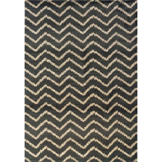 Old World Tribal Grey/ Ivory Rug (7'10 x 10'10)