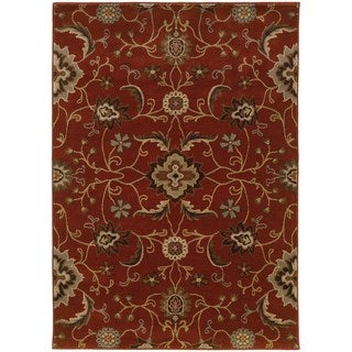 Floral Red/ Multi Rug (3'10 x 5'5)