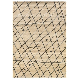 """Old World Tribal Ivory/Brown Transitional Rug (7'10"""" x 10'10"""")"""