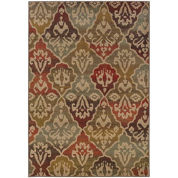 "Tribal Panel Multi Rug (5'3 x 7'6) - 5'3"" x 7'6"""