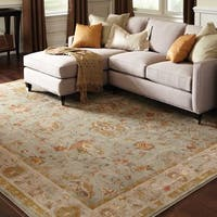 Gracewood Hollow Wowaus Distressed Oriental Blue/ Grey Rug - 5'3 x 7'6