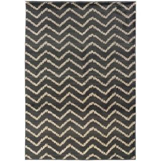 Old World Tribal Grey/ Ivory Rug (4' x 5'9)