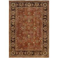 Pine Canopy Allium Oriental Orange/ Brown Area Rug - 5'3' x 7'6'