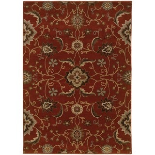 Floral Red/ Multi Rug (5'3 x 7'6)
