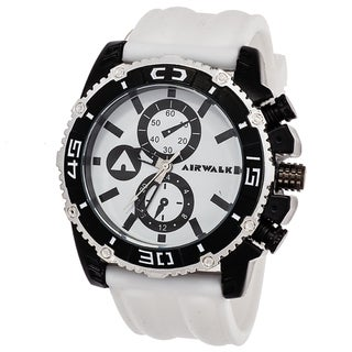 Airwalk Men's Black / White High Roller Chronograph Watch