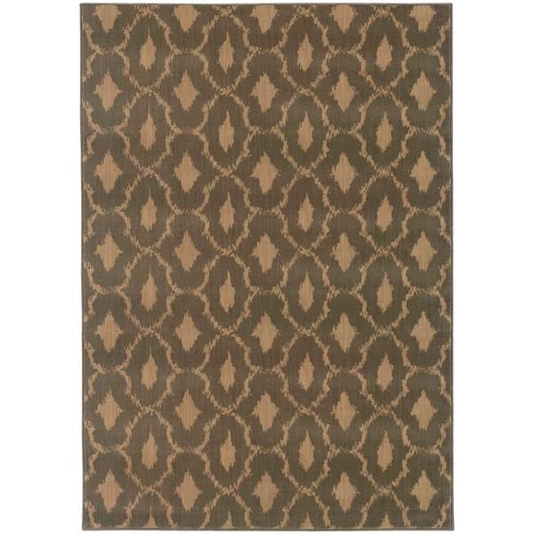 Ikat Panel Blue/ Ivory Rug - 7'10 x 10'10