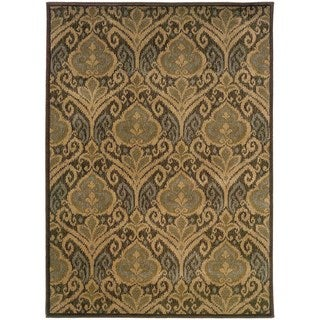 Floral Panel Green/ Ivory Rug (7'10 x 10'10)