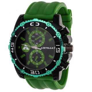 Airwalk Men's Green High Roller Chronograph Watch