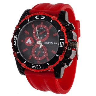 Airwalk Men's Red/Black High Roller Chronograph Watch