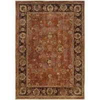 Pine Canopy Allium Oriental Orange/ Brown Area Rug - 7'10' x 10'10'