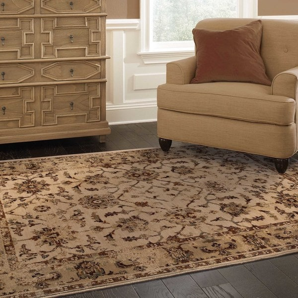 Pine Canopy Aster Oriental Ivory/ Beige Area Rug - 9'10' x 12'10'