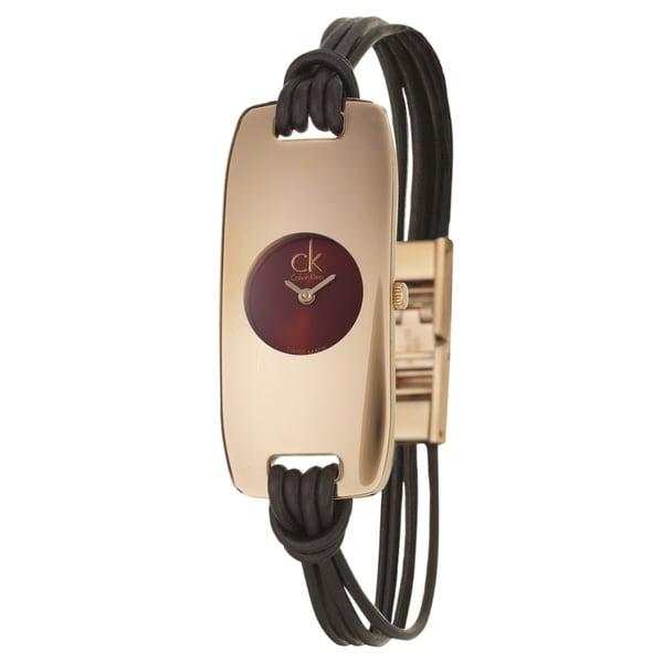 Calvin Klein Women's 'Connect' Rose-goldplated Swiss Quartz Watch