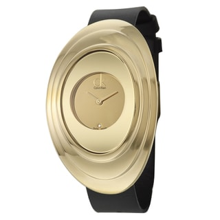 Calvin Klein Women's 'Mound' Yellow Goldplated Swiss Quartz Watch
