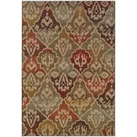 Tribal Panel Beige Nylon/Rug - 9'10 x 12'10