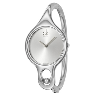 Calvin Klein Women's 'Air' Stainless Steel Swiss Quartz Watch with 6-inch Band