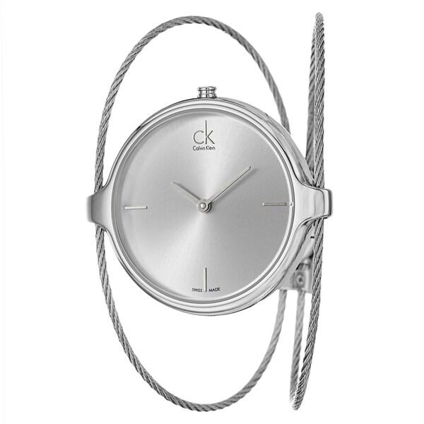 0cf02b0e685 Shop Calvin Klein Women s  Agile  Stainless Steel Swiss Quartz Watch ...