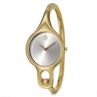 Calvin Klein Women's 'Air' Yellow Goldplated Swiss Quartz Watch with 6.5-inch Band