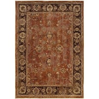 Pine Canopy Allium Oriental Orange/ Brown Nylon/Rug - 9'10' x 12'10'