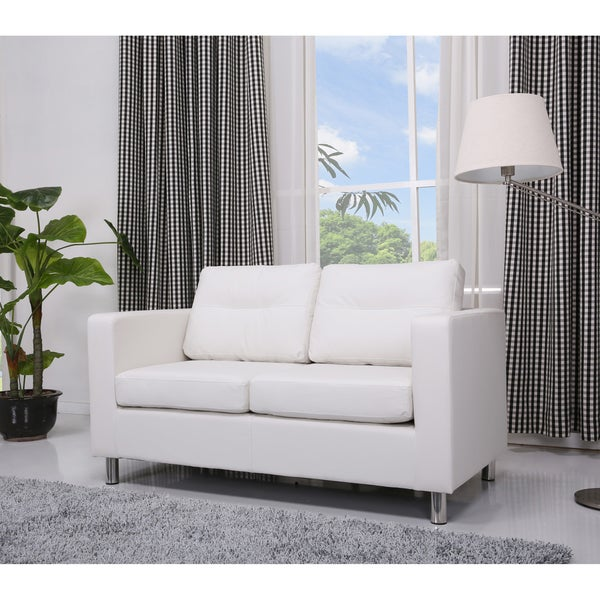39 detroit 39 white loveseat free shipping today 15449590 Small white loveseat