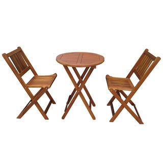 Merry Products Acacia Hardwood Outdoor Bistro Set