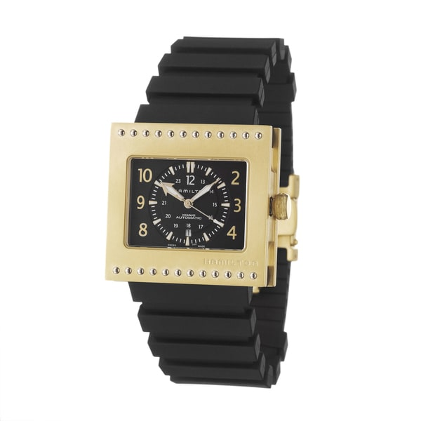 Hamilton Men's 'Khaki Action Code Breaker' Yellow Goldplated Titanium Swiss Automatic Watch