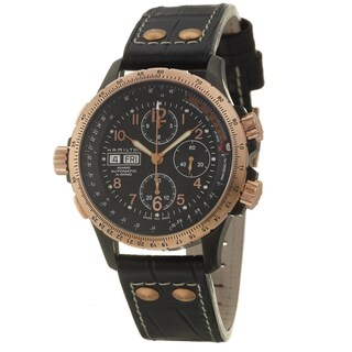 Hamilton Men's 'Khaki Aviation' Stainless Steel Rose-goldplated Swiss Automatic Watch