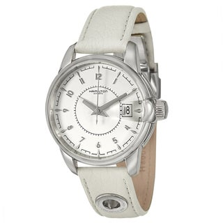 Hamilton Men's 'American Classic' Stainless Steel White Leather Swiss Automatic Watch