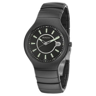 Rado Men's 'Rado True' Ceramic Swiss Quartz Watch