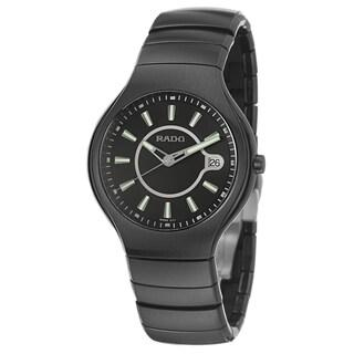 Rado Men's 'Rado True' Ceramic Swiss Quartz Watch