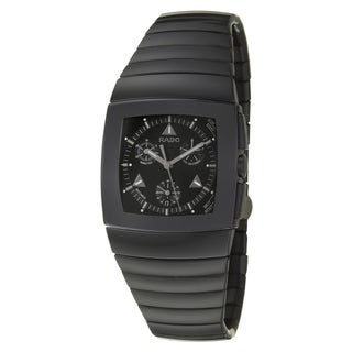 Rado Men's 'Sintra' Black Ceramic Swiss Quartz Watch