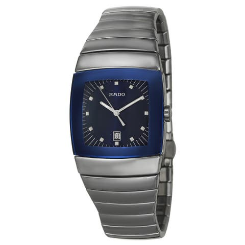 Rado Men's 'Sintra' Blue Dial Ceramic Swiss Quartz Watch