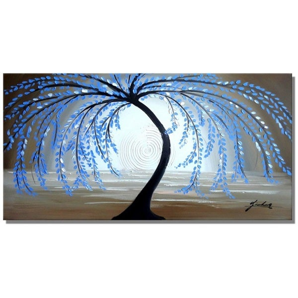 'Crying Willow' Hand-Painted Canvas Art