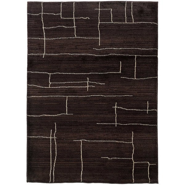 Old World Tribal Brown/ Ivory Area Rug - 5'3 x 7'6